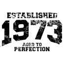 Established 1973 - Aged to perfetion - T-Shirt zum Geburtstag schenken